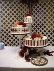 Buttercream with Fondant Trims and Matching Mints