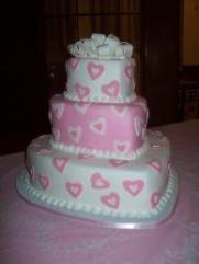 Wedding cake Pink Hearts