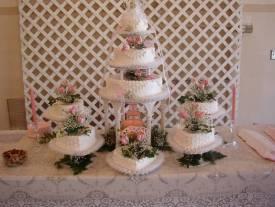 Fountain cake with satellites